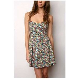 Minkpink floral strapless dress